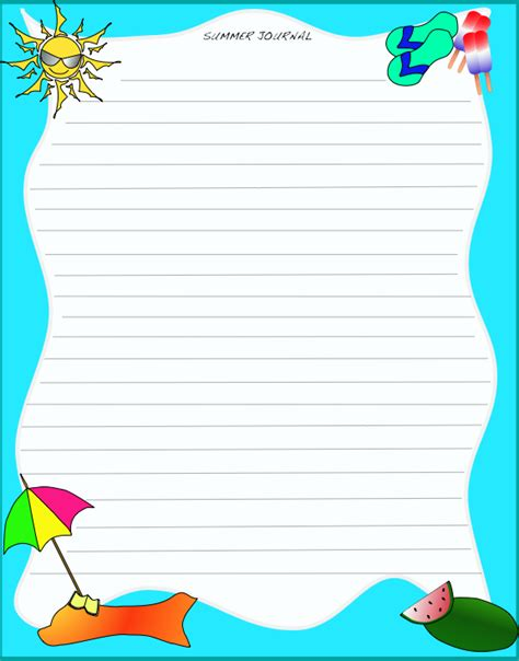 8 best images of free printable journal pages elementary