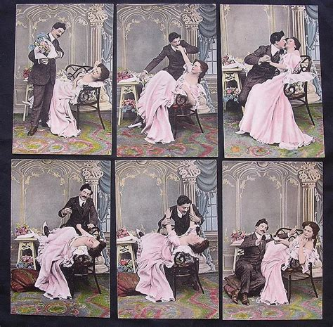 Furniture Store Kitchener rare set of six victorian era risque postcards from