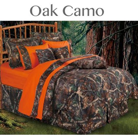 seclusion 3d comforter set oak camo bedding