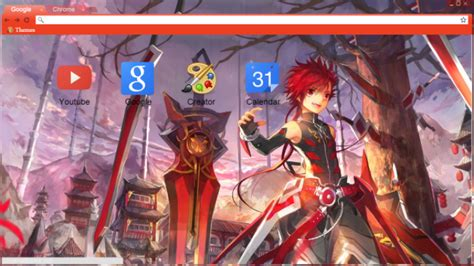 google theme elsword elsword infinity sword chrome theme themebeta