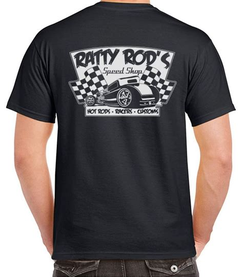 Shop T Shirt Ratty Rod S Speed Shop T Shirt Rods Racers