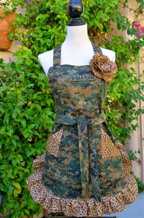 womens full apron military digi camo from oliviabydesign