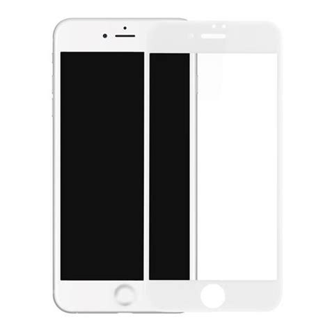 Tempered Glass 3d Iphone 66 Black White baseus pet soft edge 3d tempered glass for iphone 7 plus white