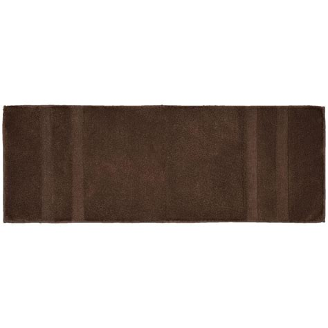 bathroom accent rugs majesty cotton chocolate 22 in x 60 in washable bathroom