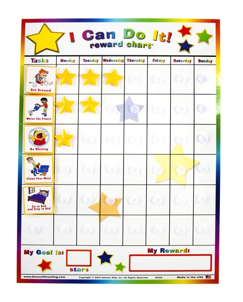 basic printable reward charts amazon com kenson kids quot i can do it quot reward chart