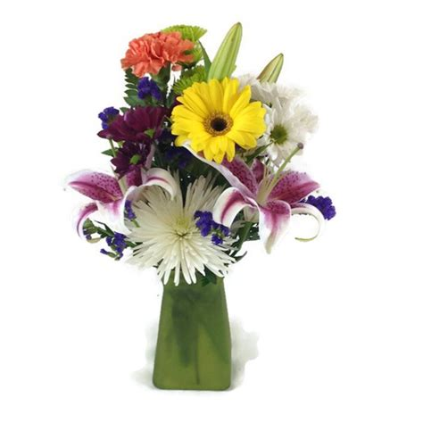 Fresh Flowers In Vase by Deluxe Fresh Flower Vase 1 800 Flowers Flowerama