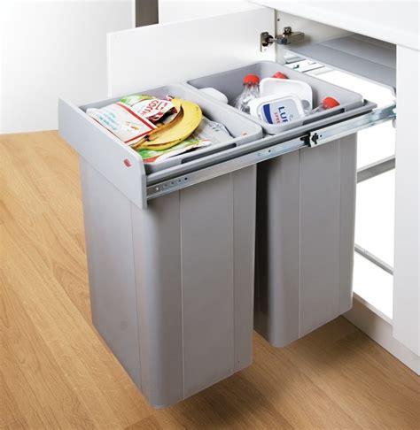 Kitchen Cabinet Bins Wesco Big Bio 64l In Cupboard Recycling Bin Contemporary Recycling Bins South East