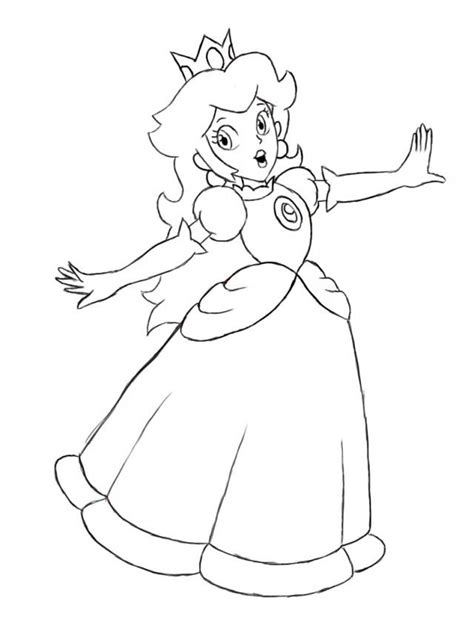 princess peach coloring pages coloring home