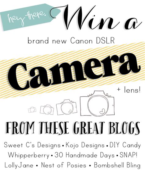 Canon Lens Giveaway - canon camera and lens giveaway