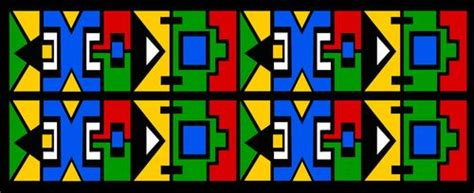 ndebele pattern vector patterns and posts on pinterest