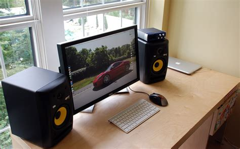 desk for studio monitors how to upgrade to studio monitor speakers paulstamatiou com