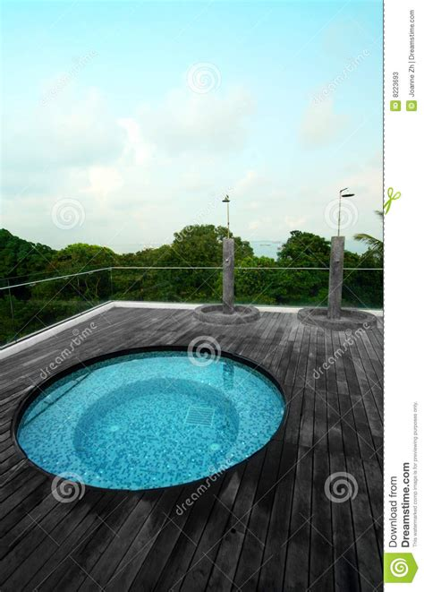 condo roof top jacuzzi pool stock image image