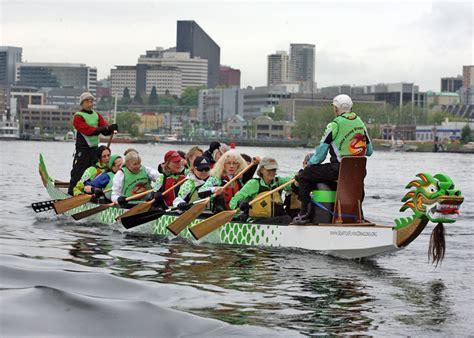 dragon boat seattle dragon boats swarm south lake union lake union