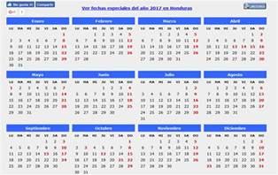 Honduras Calendario 2018 Calendario 2017 Caledarios 2017 Para Imprimir