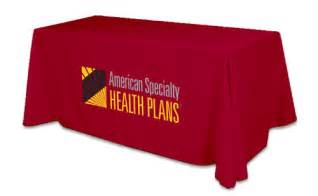 6ft company logo table cover exhibition tablecloth