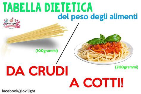 calorie degli alimenti cotti tabella dietetica peso degli alimenti da crudi a cotti