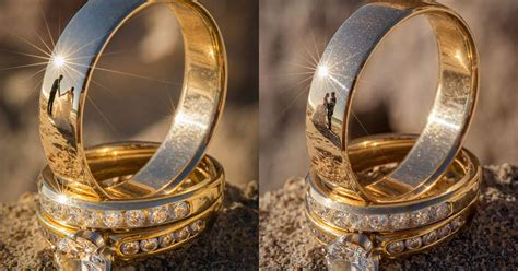 Wedding Ring Photography by These Wedding Ring Photos Reflections Of The Newlyweds
