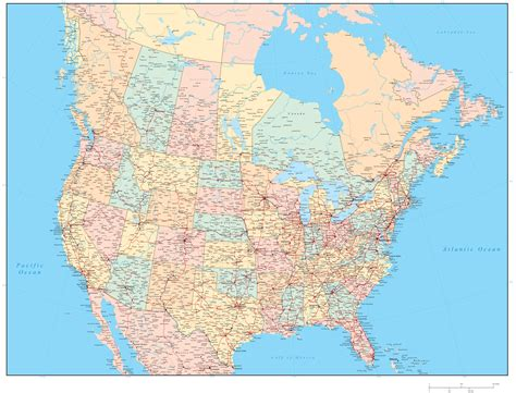 map of canada and usa with cities canada us maps with states and cities emaps world