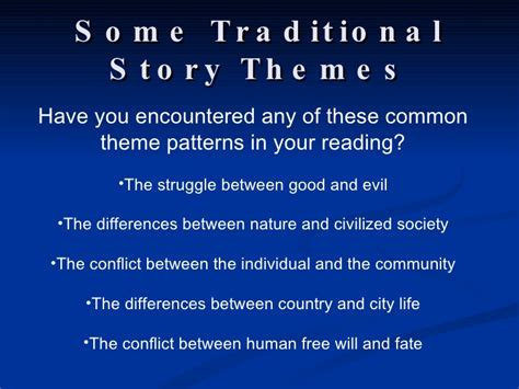 universal themes in short stories short story notes 2009