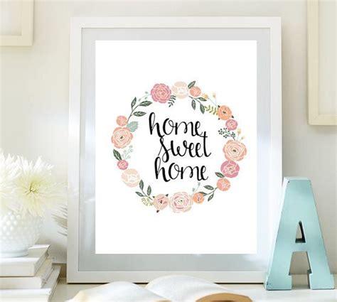 printable wall art decor home sweet home print quote printable wall art guest room
