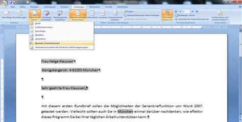 Etiketten Drucken Serienbrief Word 2007 by Seriendruck Tu Bs 26 02 15