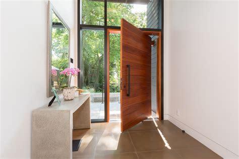 foyer modern modern foyer entrance with aluminum black curtain wall