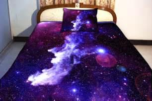 galaxy bedding set two sides printing galaxy by tbedding