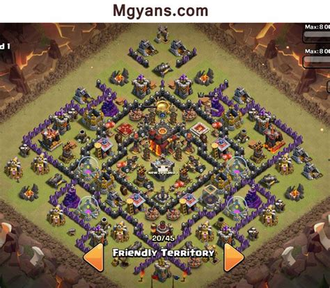 th9 layout december update top 3 th 10 war base designs 4 mortars december 2014 coc