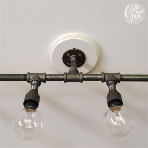 diy pipe light fixture guys with hammers how to make a fabulous plumbing pipe