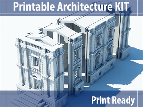 architectural model kit 3d scale models printable architecture kit 2 victorian town house by
