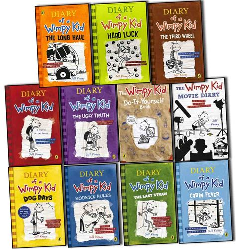 Diary of a wimpy kid collection 11 books set pack by jeff kinney the