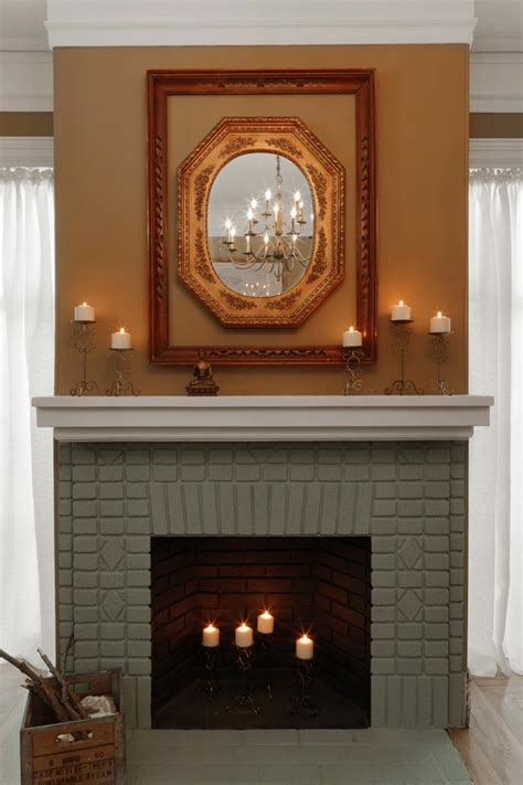 cool ideas paint brick fireplace home painting image of color loversiq