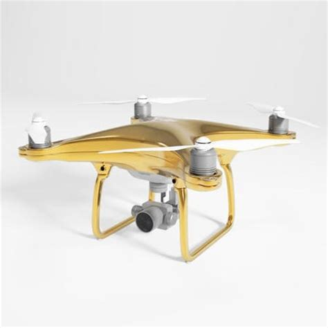 Dji Phantom Drone With dji phantom 4 drone with 24 carat gold plating goes on
