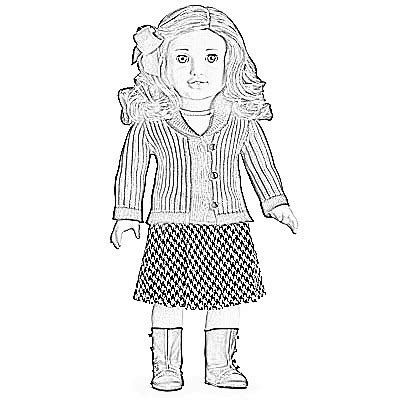 printable coloring pages american girl dolls american girl printables american girl doll coloring