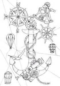 steampunk ocean nautical coloring book device bluestarcoloring