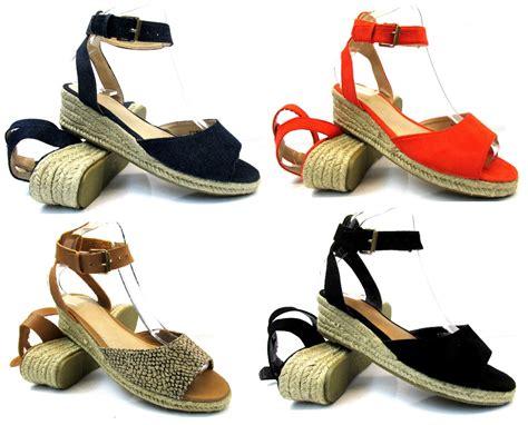 New Sandal Flat Raisa womens new flat low wedge heel espadrilles summer sandals shoes size 3 9 ebay