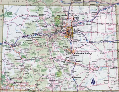 road map colorado usa large detailed roads and highways map of colorado state