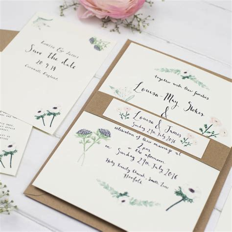 what comes in a wedding invitation suite louisa watercolour wedding invitation suite by