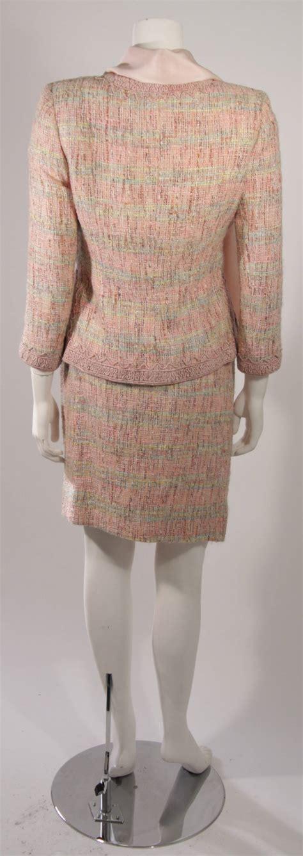 Id 1197 Scarf Set Blouse Skirt Oscar De La Renta 4 Skirt Suit With Silk Blouse And