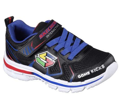 boys black athletic shoes skechers boys kicks nitrate black athletic shoe