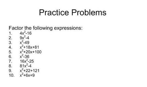 Wonderful Products For Your Special Practice by Factoring Special Products Square Trinomials