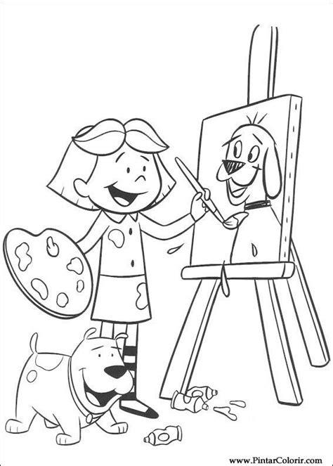 desenhos para pintar e colorir clifford imprimir desenho 010