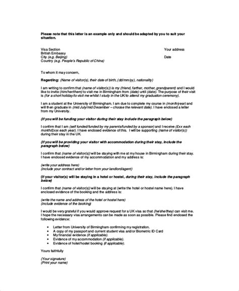 invitation letter  visitor visa uk parents letter