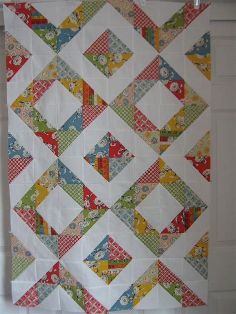 Patchwork Quilt Squares - recess baby quilt half square triangles and patchwork