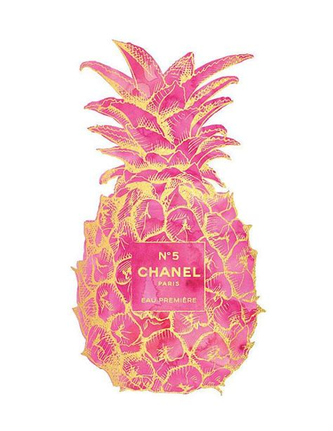 wallpaper pineapple pink gold pink pineapple chanel no5 print pineapple by