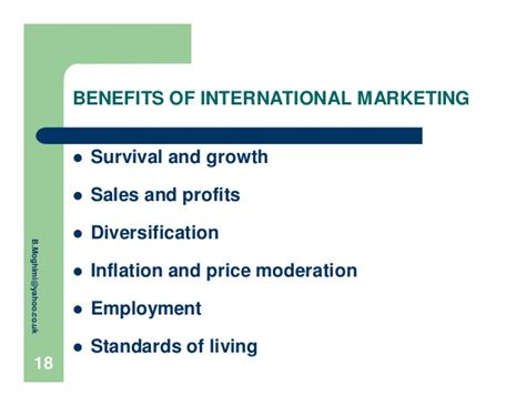 Benefits Of Mba In Marketing by International Marketing O S S2 Ch1 Moghimi