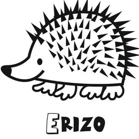 imagenes de animales por la letra e dibujo infantil de erizo para colorear dibujos de