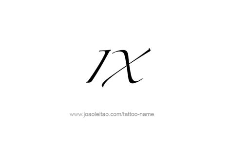 number 9 tattoo designs ix numeral designs tattoos with names