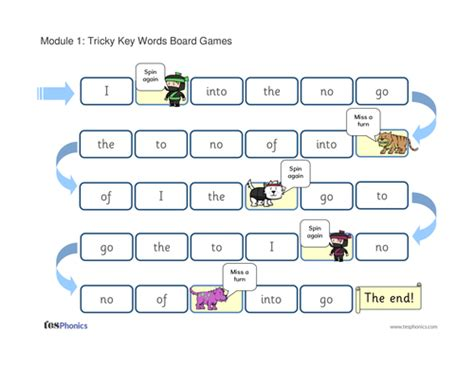 printable word games ks1 tricky words board games by tesphonics resources