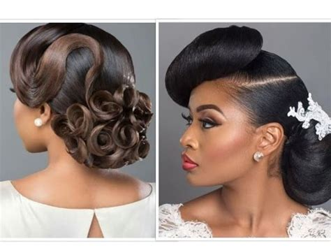 Zambian Wedding Hairstyles by Bridal Hair With Weave Makeup For Black